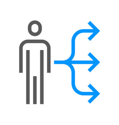 human resource management line icon vector image