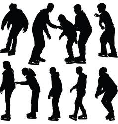 ice skate silhouette vector image