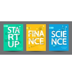 Infographics of start up science finance vector image