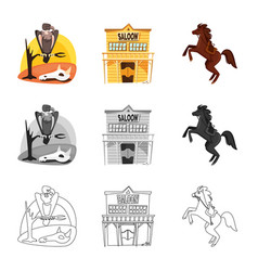 Isolated object texas and history logo vector