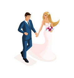 isometry a man and a woman at a marriage vector image