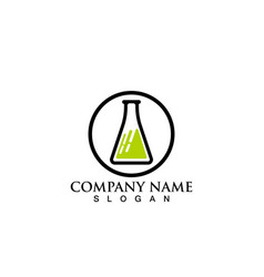 laboratorium logo and symbols lab vector image