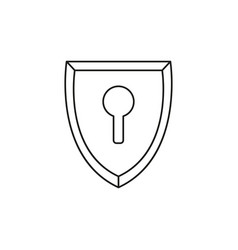 locked security shield icon vector image
