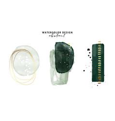 Marble watercolor emerald green parint emerald vector