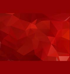 multi red polygonal mosaic background geometric vector image