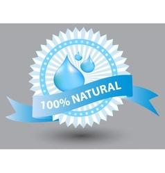 Natural blue label vector