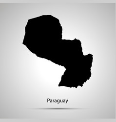 paraguay country map simple black silhouette vector image