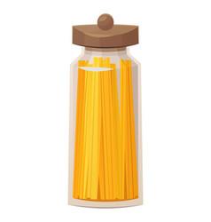 Pasta in jar for kitchen on white background vector