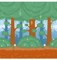 Pattern nature forest vector image