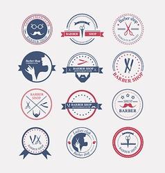 Perfect set of barber and haircut logos vector