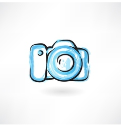 professional camera grunge icon vector image