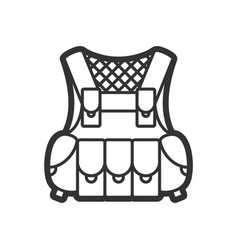 Protection vest flat paintball or airsoft vector