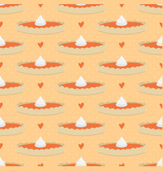 pumpkin pie seamless pattern background vector image