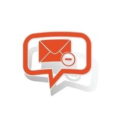 Remove letter message sticker orange vector