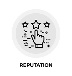 Reputation Line Icon vector image