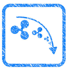 ripple reduce trend framed stamp vector image