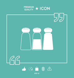 salt or pepper shakers - set vector image