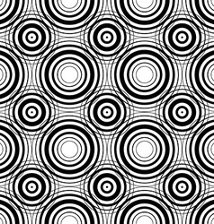 Seamless geometric black and white stripes vector image