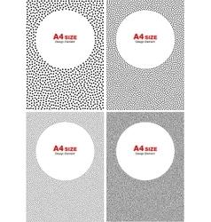 Set of Halftone Black Dots Backgrounds vector image