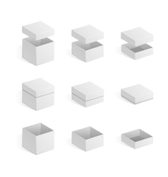 Set of white boxes vector image