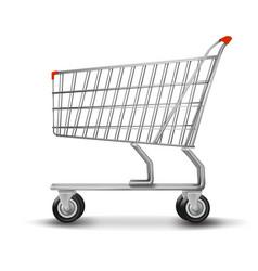 shopping cart isolated on white background vector image