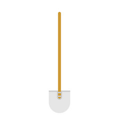 shovel isolated hand tool for work on white vector image
