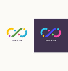 Shows infinity sign modern vector