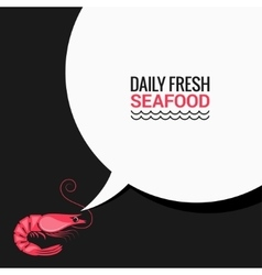 Shrimp Speech Bubble Says Fresh Food vector image