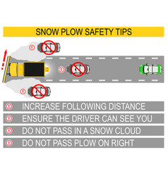 Snow plow safety vector
