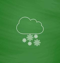 snowfall computer symbol vector image
