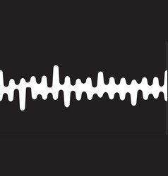 sound wave or radio wave on vector image