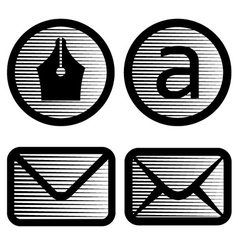 striped email symbols vector image