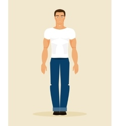 The man in modern clothes vector image