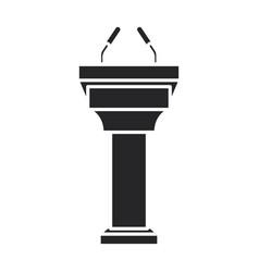 Tribune iconblack icon isolated on vector