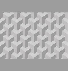 Trihedral tessellation seamless pattern vector