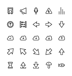 User interface colored line icons 35 vector