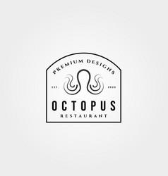 Vintage octopus premium logo design symbol design vector