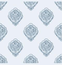 Volumetric damask seamless pattern vector
