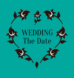 Wedding the date image vector