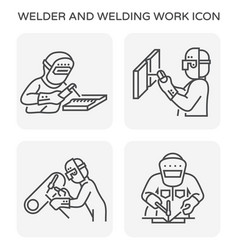welder welding icon vector image