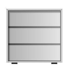 white drawer mockup realistic style vector image