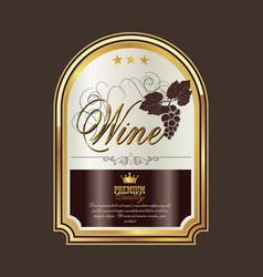 Wine label 2 vector