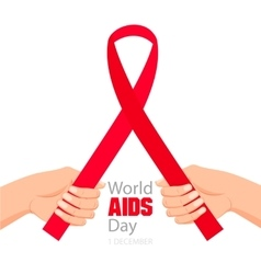 Worlds Aids day card 1 december vector