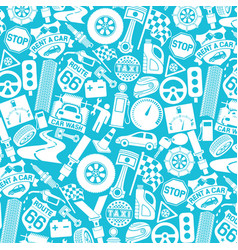 background pattern with car icons vector image vector image