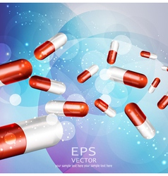 background with capsules vector image