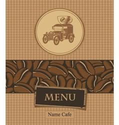 coffee and retro car vector image vector image