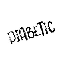diabetic rubber stamp vector image