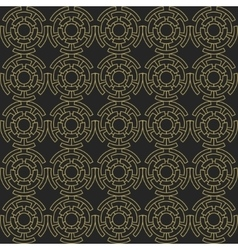 Golden geometric seamless ornament vector image