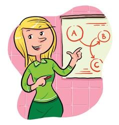 Sales Girl vector image vector image