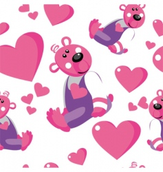 seamless bears vector image vector image